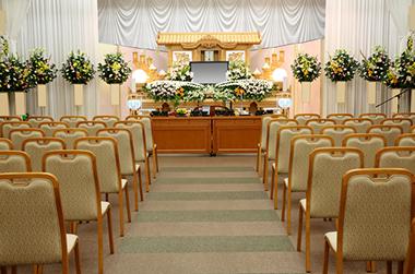 一般葬 説明イメージ(祭壇の全景)